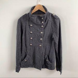 Rubbish | Grey Herringbone Military Jacket Buttons